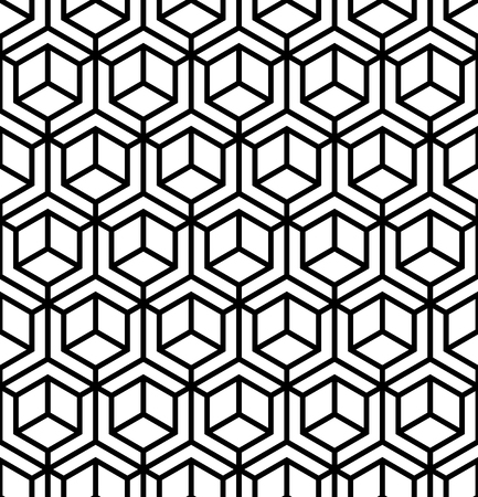 Geometric grid pattern. Vector abstract seamless pattern. Illustration