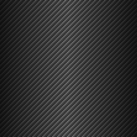 Vector carbon fiber texture. Dark background with lighting. Stock Illustratie