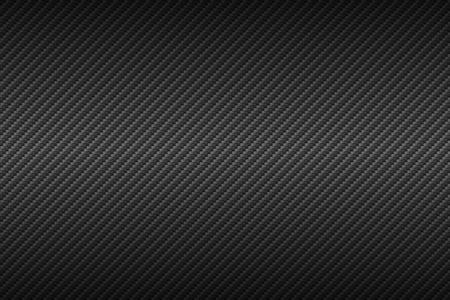 Textura de fibra de carbono de vector. Fondo oscuro con iluminación.