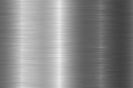 Textura de metal pulido sin costuras. Vector fondo de acero con arañazos. Ilustración de vector