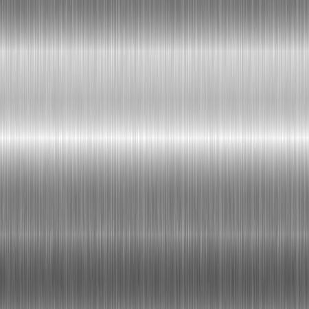 Nahtlose Textur aus gebürstetem Metall. Vektorstahlhintergrund mit Kratzern.