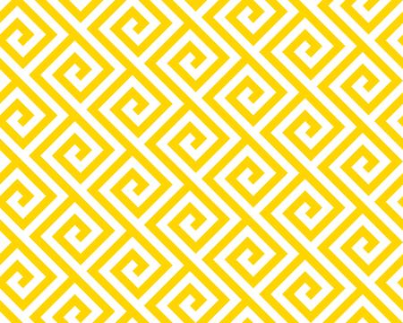 Vector yellow geometric pattern. Seamless braided linear pattern.