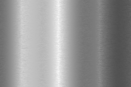 Brushed metal texture. Vector steel background with scratches.
