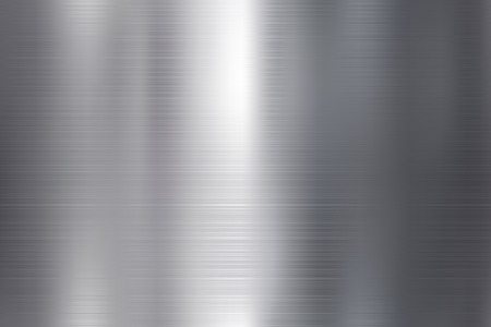 Seamless brushed metal texture. Vector steel background with scratches.