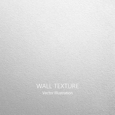 Vector wall background with lighting. White concrete texture.
