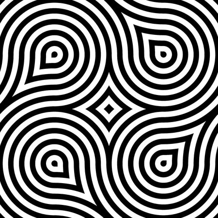 Vector geometric pattern. Seamless braided linear pattern. Çizim