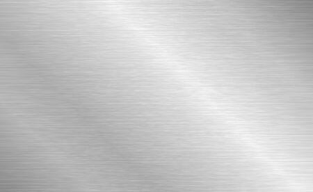 Vektor Textur aus gebürstetem Metall. Stahlhintergrund mit Kratzern.