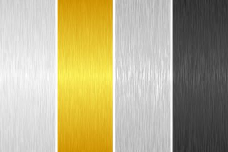Vector set of brushed metal textures for your design. Illusztráció