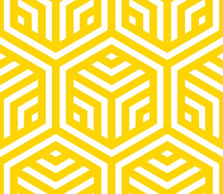 Seamless geometric pattern. Vector hexagonal yellow pattern.