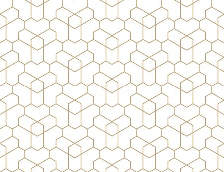 Seamless geometric gold pattern. Vector modern linear texture.