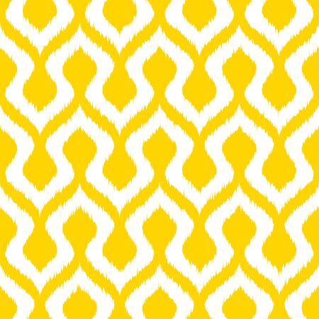 Vector stylized yellow seamless pattern. Modern geometric abstract texture for your design.