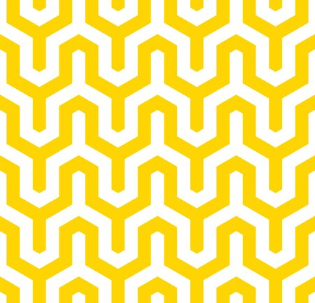 Vector yellow geometric pattern. Seamless modern linear texture. Ilustrace