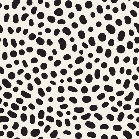 Vector texture with random spots. Seamless dotted pattern.