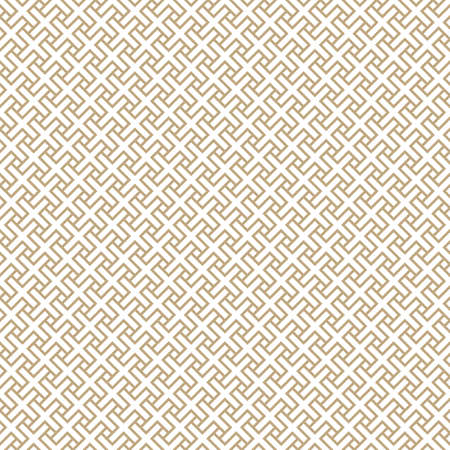 Seamless simple gold geometric pattern. Vector linear modern texture.