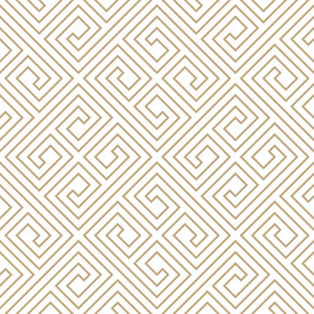 Seamless simple gold geometric pattern. Vector linear modern texture. Standard-Bild - 151009448