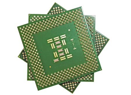 Close up of CPU processors  front view  photo