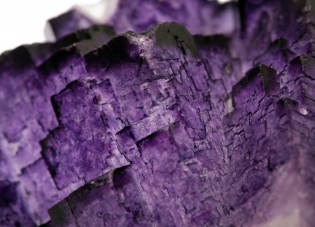 Texture of amethyst crystal  closeup  photo