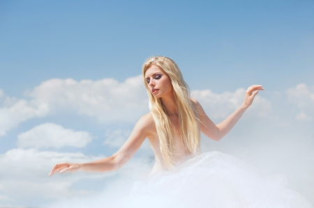lightness: Dancing in the clouds Stock Photo