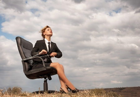 Out of office � liberation Stock Photo
