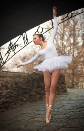 Ballerina under the bridge photo