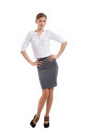 Young pretty office lady posing  Stock Photo - 16613738