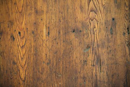 Hout structuur - Oude bekrast eiken tafelblad