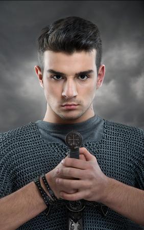 若い騎士 s の肖像画 写真素材 - 26607203