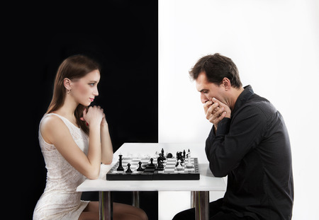 antithesis: Competition between man and woman, concept