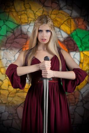 Lady warrior photo