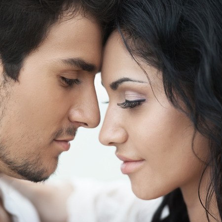 sexual: Romantic couple portrait Stock Photo