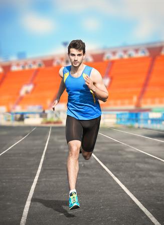 Running man Archivio Fotografico