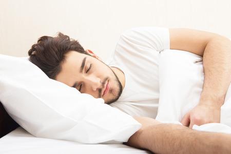 sleeping face: Sleeping man