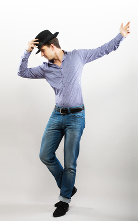 tap dance: Dancing guy Stock Photo