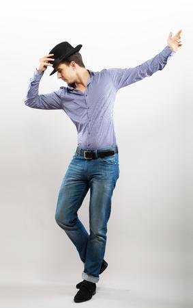 dancing man: Dancing guy Stock Photo