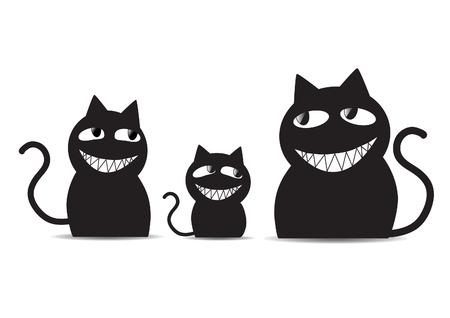 Zwarte katten familie
