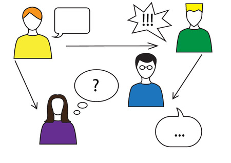 comunication: Social network comunication concept vector