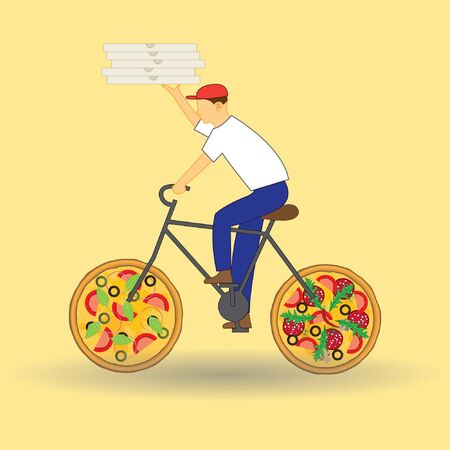 moped: Pizza delivery concept