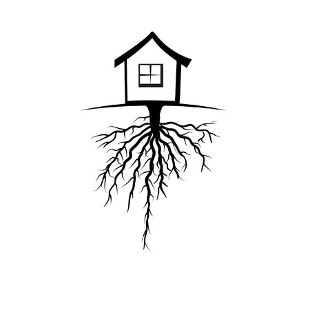 deep roots: House with the deep root Illustration
