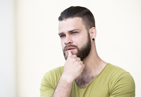 wistful: Male portrait