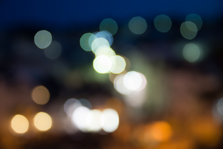 blurred background: Lights blurred bokeh background Stock Photo