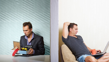 lay off: Looking for a job Stock Photo
