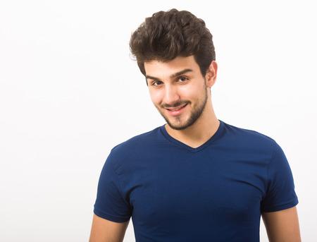 viso uomo: Ritratto di un bel ragazzo