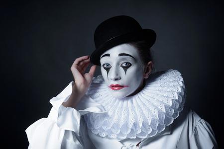 mime: Sad mime Pierrot
