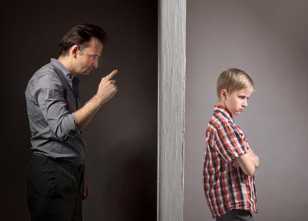 父と息子間の問題 写真素材