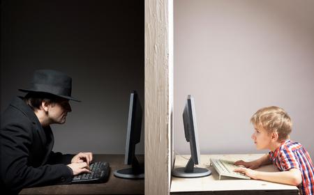 Dangerous online friendship concept