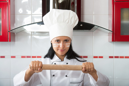 exaggeration: Determined woman in the kitchen