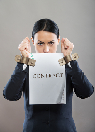 slave labor: Limited by contract, concept