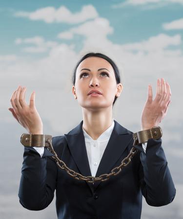 liberate: Office prisoner concept