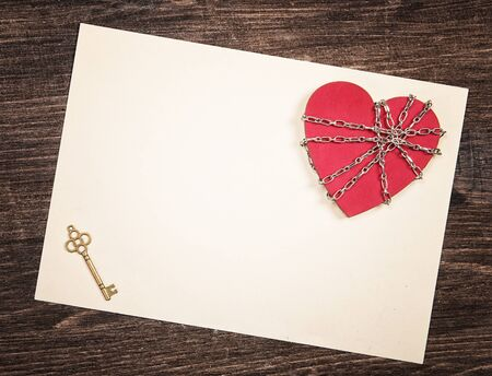 old letter: Open heart concept