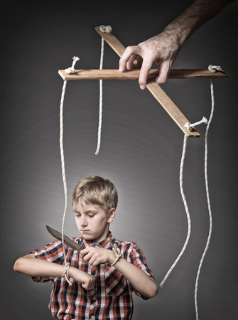 puppeteer: Growing-up concept
